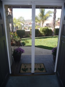 Disappearing Screen Door